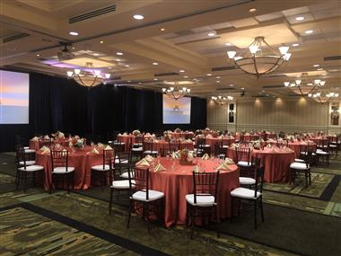 Royal Palm Ballroom Banquet Setting