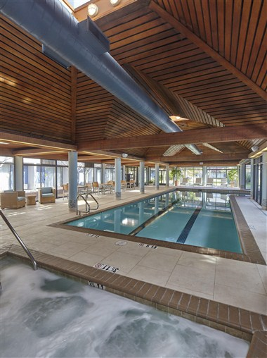 Indoor Lap Pool with Whirlpool
