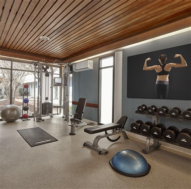 Weights in Fitness Center