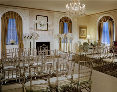 Grand Suite Set Up For A Wedding Ceremony