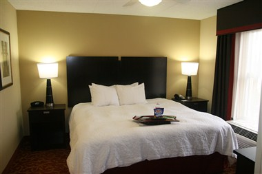 Two room spacious suite view of king bed