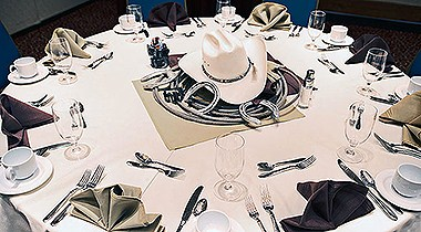 Cowboy Wedding table setting
