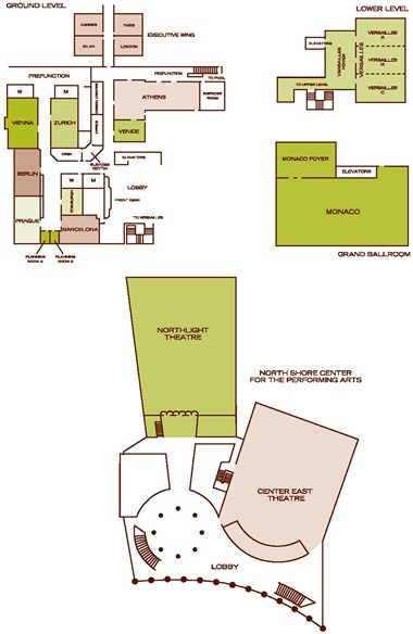 Floor Plan of North Shore Center for the Performin