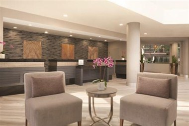Front lobby and reception desk