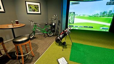 NOW OFFERING Golf Simulators