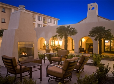 Exterior Patio with Fireplace