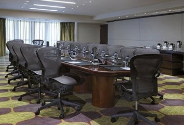 Boardroom-style seating