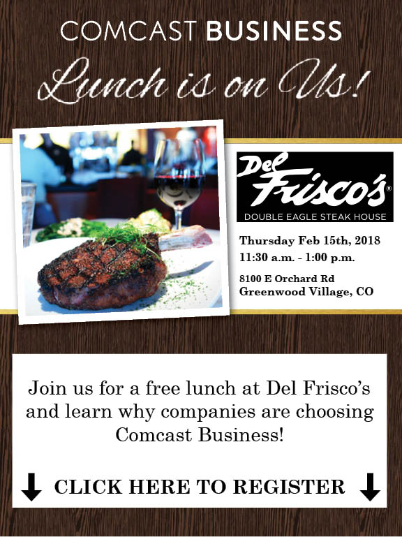 Let's Do Lunch On Comcast Business!