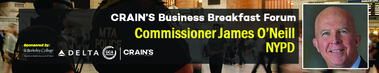 Crain's 2016 Business Breakfast Forum: James O'Neill, Commissioner, NYPD