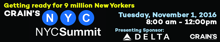 Crain's New York City Summit: Getting ready for 9 million New Yorkers
