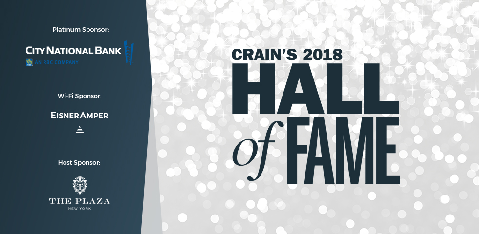 Crain's 2018 Hall of Fame Luncheon