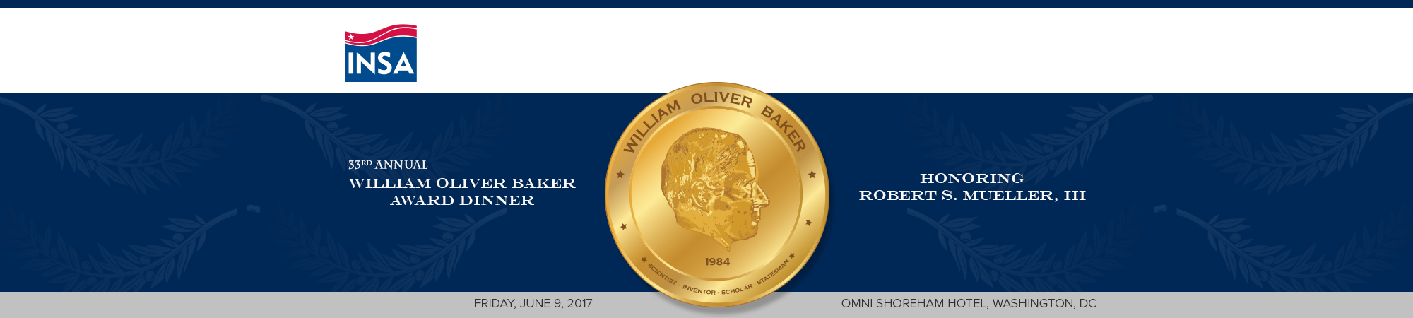 33rd William Oliver Baker Award Dinner