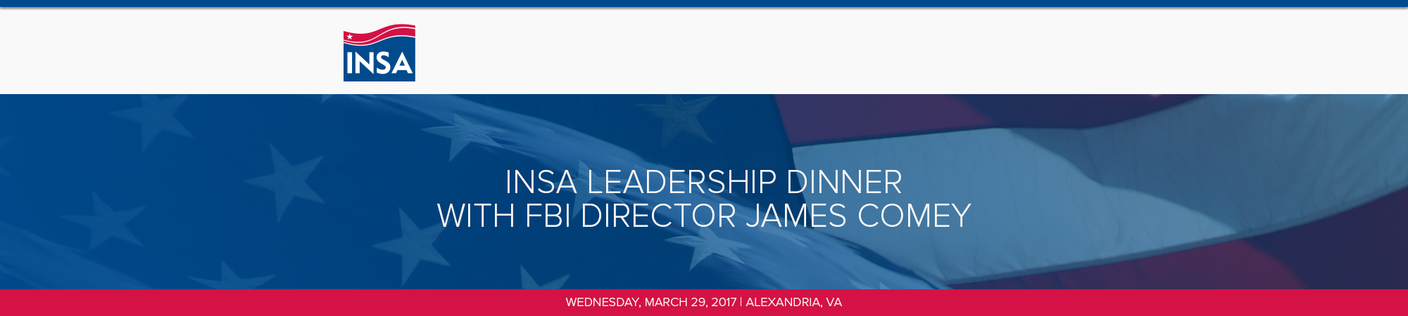 INSA Leadership Dinner with FBI Director James Comey
