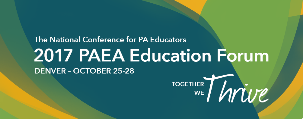 2017 PAEA Education Forum and Workshops