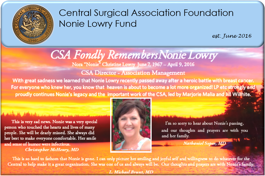 CSA Foundation - Nonie Lowry Fund 2017