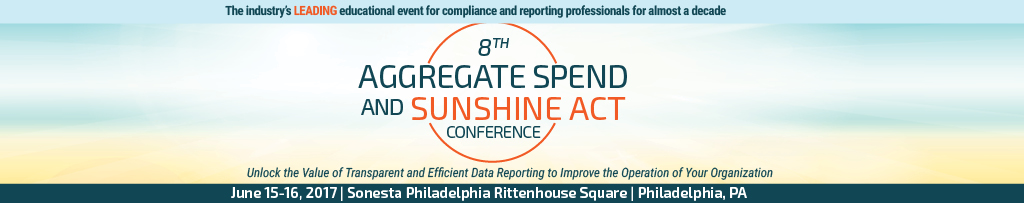 8th Aggregate Spend and Sunshine Act Conference
