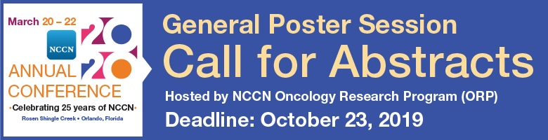 NCCN 2020 General Poster Session - Call for Abstracts