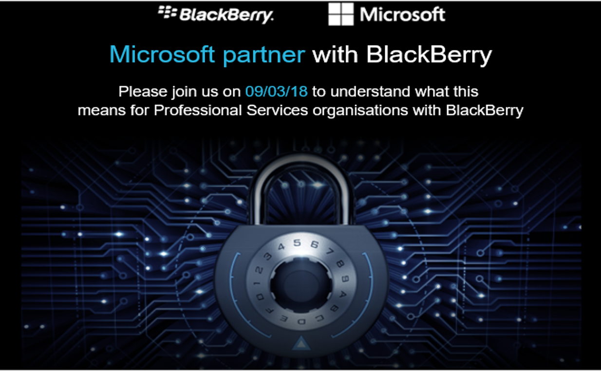 Security in Practice with BlackBerry and Microsoft