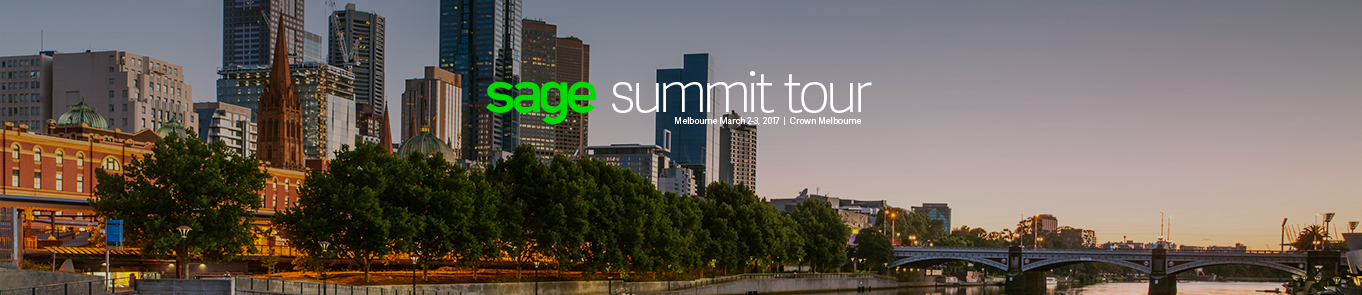 Sage Summit Tour - Melbourne