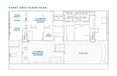Godfrey Hotel Social and Event Space Layout