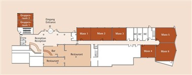 Meeting rooms floor plan overview