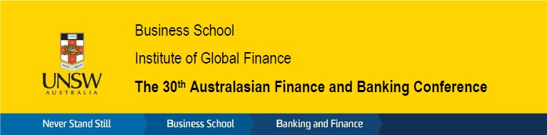 30th Australasian Finance and Banking Conference