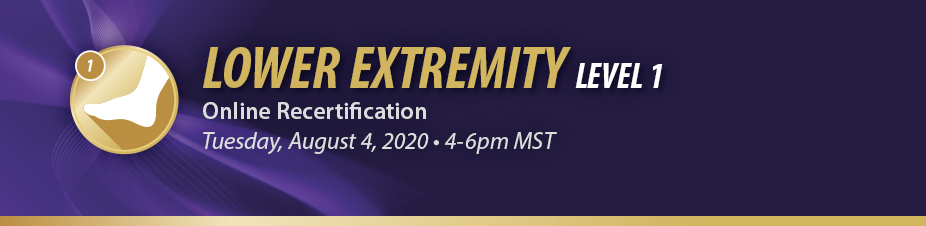 Lower Extremity Level 1 Online Recertification
