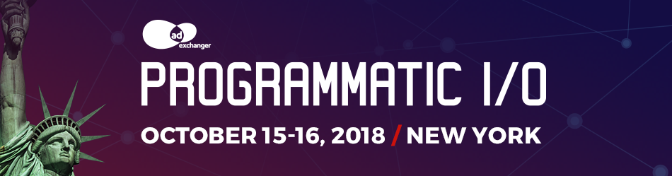 AdExchanger's PROGRAMMATIC I/O New York 2018