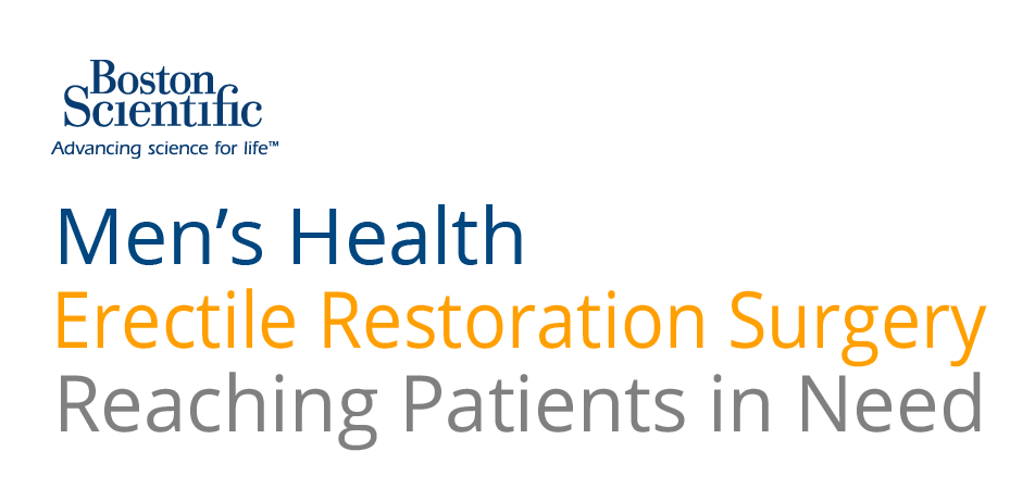 Erectile Restoration Surgery- Reaching Patients in Need