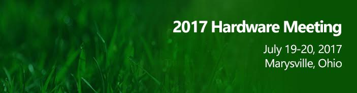Hardware Meeting 2017