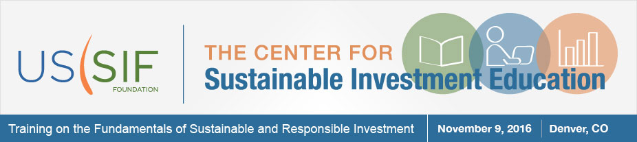 Training on the Fundamentals of Sustainable and Responsible Investment