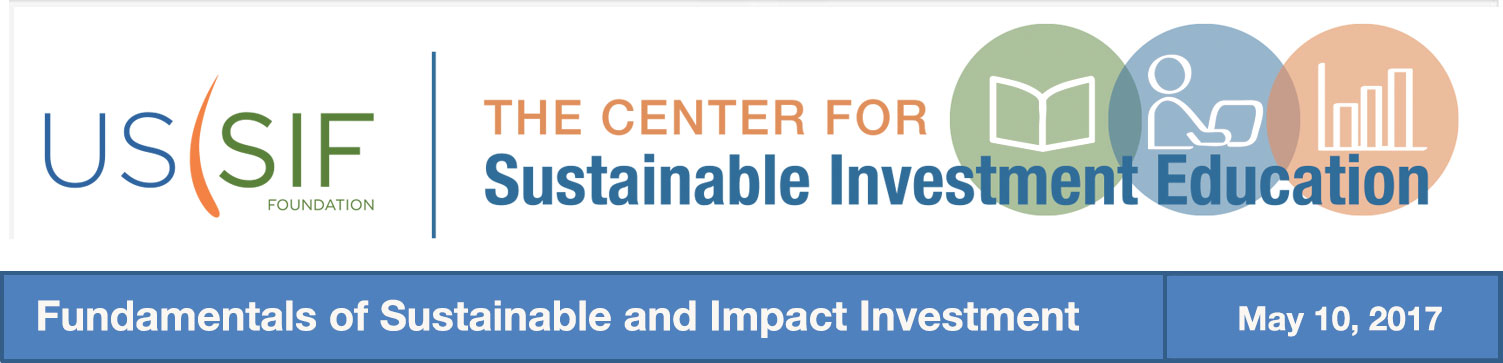 Training on the Fundamentals of Sustainable and Impact Investment
