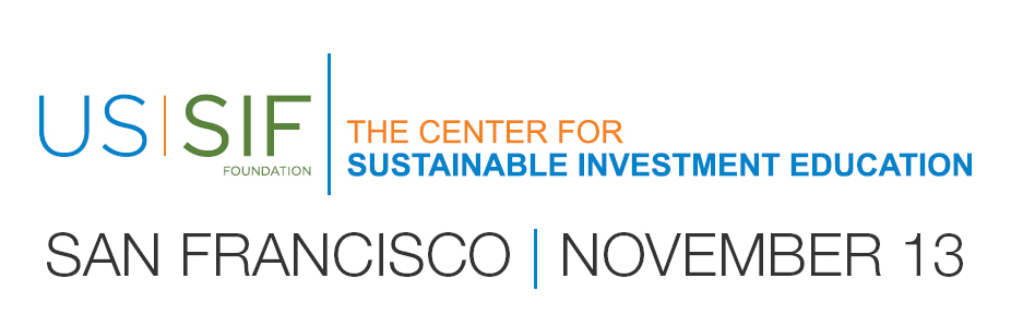 NorCal - Training on the Fundamentals of Sustainable and Impact Investment