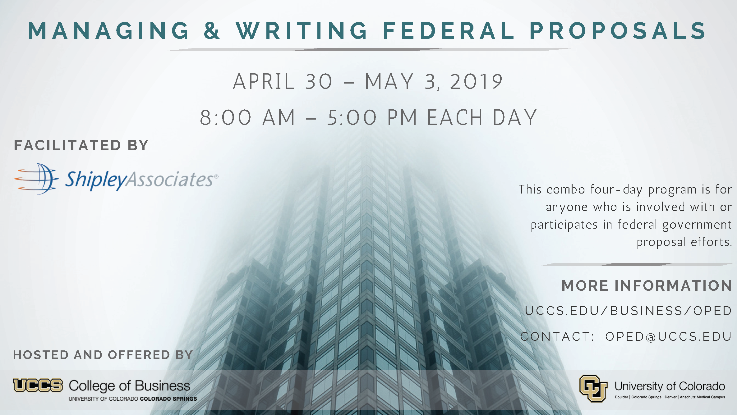 Managing & Writing Federal Proposals (Colorado Springs)