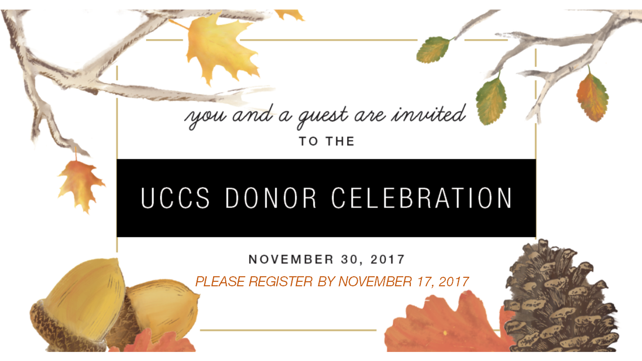2017 UCCS Donor Celebration