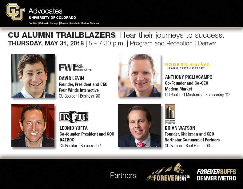 CU Alumni Trailblazers | Program and Reception | May 31