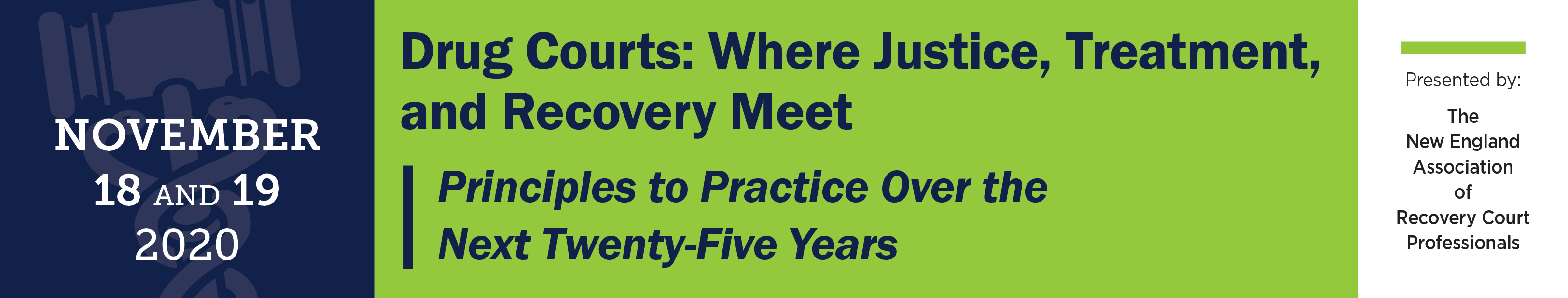 Drug Courts:  Where Justice, Treatment and Recovery Meet - Principles to Practice Over the Next Twenty-Five Years