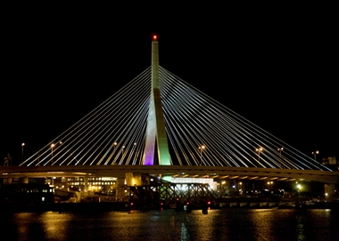 Zakin Bridge at Night