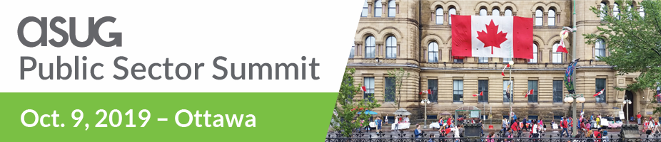 ASUG and SAP Public Sector Summit in Ottawa