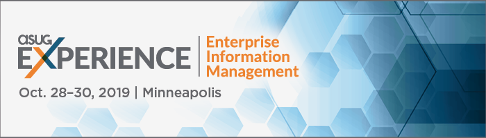 ASUG Experience for Enterprise Information Management (EIM) 2019