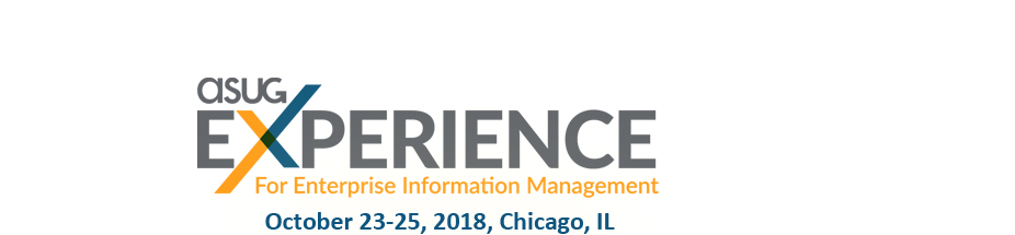 ASUG Experience for Enterprise Information Management (EIM)