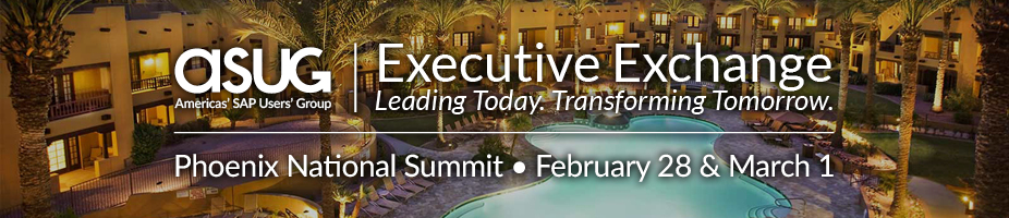 ASUG Executive Exchange Phoenix National Summit