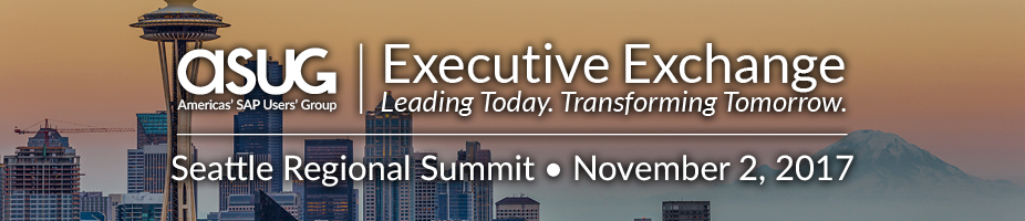 ASUG Executive Exchange Seattle Regional Summit