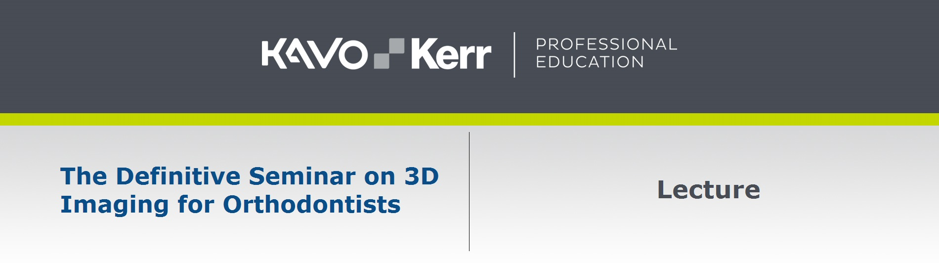 The Definitive Seminar on 3D Imaging for Orthodontists Presented by: Robert Kaspers, DDS, MS
