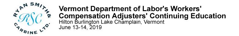 Vermont Department of Labor's Workers' Compensation Adjusters' Continuing Education