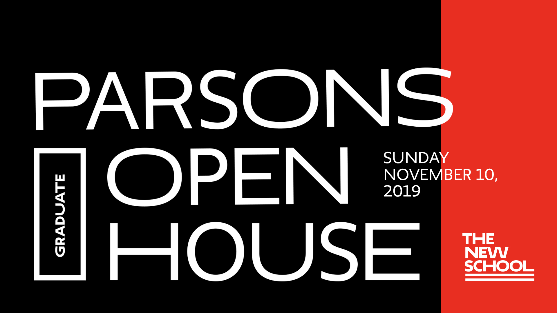 Parsons School of Design Graduate Open House 2019