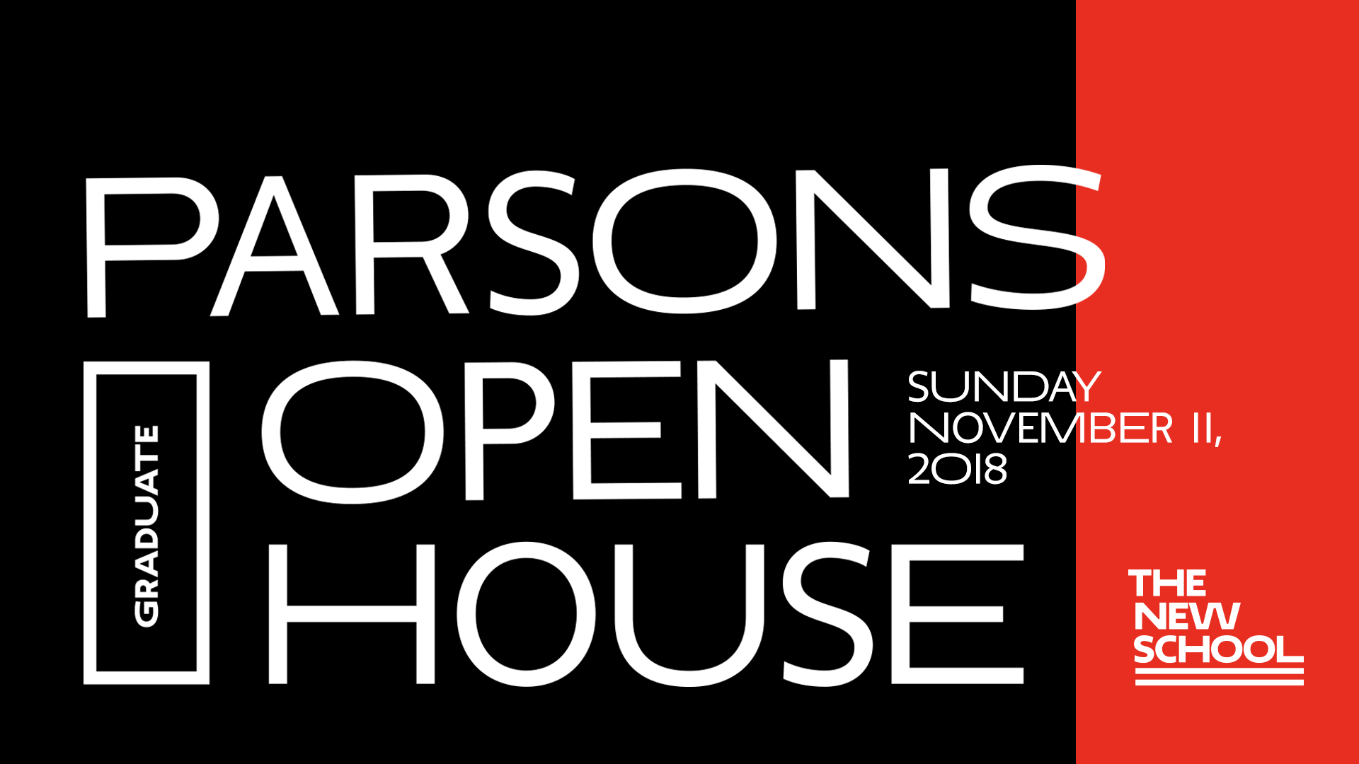 Parsons School of Design Graduate Open House