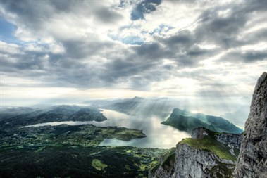 View over lake Lucerne