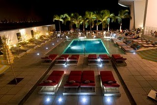 Pool Deck at Azul by night