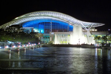Center at night